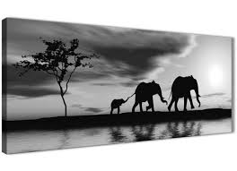 black white african sunset elephants canvas wall art picture 120cm wide 1363 on african elephant canvas wall art with black white african sunset elephants canvas wall art print 1363 ebay