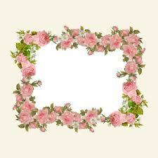 Paper With Flower Border Vintage Flowers Frame Clipart Paper Flower Rose