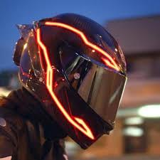 Motorcycle Helmet Light Kit 4pcs Motorcycle Led Night Riding Signal Helmet El Cold Light 4 Mode Led Bike Helmet Light Lights Strip Kit Bar Accessories
