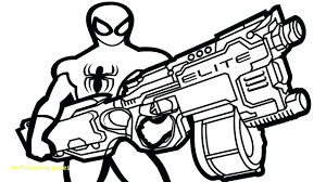 Nerf Coloring Pages Com Discover All On Luxury Nerf Gun Coloring