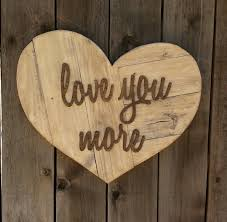 wooden love heart wall art