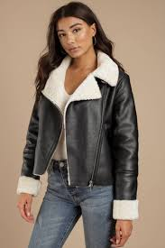 blank nyc blank nyc silent night black faux shearling moto jacket