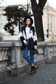 hm step hem jeans mango ruffle white on down shirt multicolor faux fur