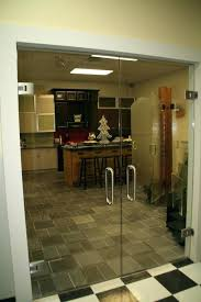 frameless glass doors interior interior swinging glass door tensor hinged double doors in design studio entrances