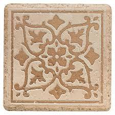 del conca 4 in x 4 in rialto beige thru porcelain square accent