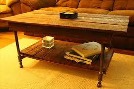 diy pallet iron pipe. Pallet Coffee Table With Metal Pipe Legs Diy Iron G