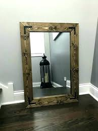 rustic wood mirror frame. Wood Frame Wall Rustic Framed Mirrors Mirror  Handmade A