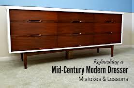 Refinishing A Mid-Century Modern Dresser: Mistakes & Lessons   Mid century  modern dresser, Mid-century modern and Dresser