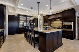 kitchens with dark cabinets and tile floors.  Tile Dark Kitchen Cabinets With Light Tile Floors Awesome  With Wood Includi For Kitchens And