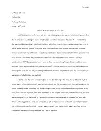 memoir essay  memoir essay 1 stevens 1la acura stevensenglish 101professor a bolton 30th 2012