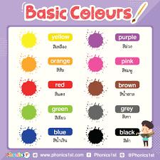 Phonics 1st - Basic Colours: สีต่างๆ - Phonics 1st...