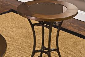 base iron end looking wooden wood glass tables top furniture table metal target ashley round redo