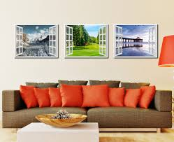 vancouver canada golf course view picture french window framed canvas print home decor wall art collection on golf wall art canada with vancouver canada golf course view picture window wall art home decor