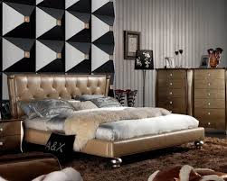 high end bedroom furniture. extravagant leather high end bedroom sets feat. gold upholstery - furniture n
