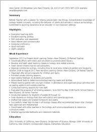 1 retired teacher resume templates try