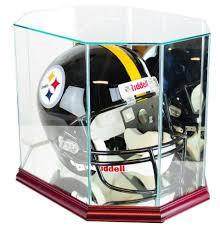 american football helmet display case