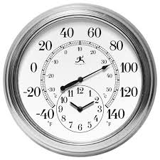 outdoor clock thermometer combo outdoor wall clock and thermometer outdoor clock thermometer combo