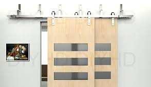 5 bypass sliding barn wood door hardware stainless steel track kit in doors from home improvement bypass sliding barn door hardware