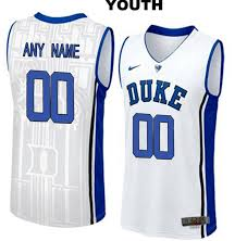 College Stitched Nike Authentic Blue Basketball White Jersey Youth Devils Customize Duke Elite|Free NFL Football Pick