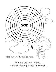 Coloring Pages On Prayer Our Father Page Catholic Lessons For Dad