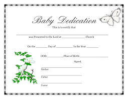 Baby Dedication Certificates Templates Baby Dedication Certificate Samples Archives PortalamigoCo New 24