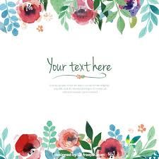 Flowers Templates Hand Painted Flowers Template Vector Free Download