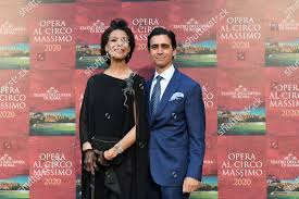 Countess Marisela Federici son Eduardo Tamrazat premiere Editorial Stock  Photo - Stock Image