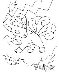Pokemon Kleurplaten Vulpix