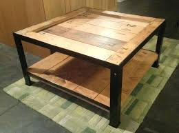 industrial style coffee table made from reclaimed materials ikea