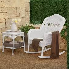 outdoor wicker rocking chairs with cushions. coral coast casco bay resin wicker rocking chair with cushion option | hayneedle outdoor chairs cushions n