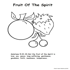 Fruit Of Spirit Coloring Pages Chronicles Network