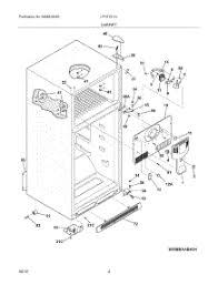 parts for frigidaire lfht1513lw9 refrigerator 05 cabinet parts for frigidaire refrigerator lfht1513lw9 from appliancepartspros com