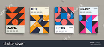 Cool Cover Designs Retro Graphic Design Covers Cool Vintage Shape Compositions