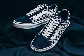chanel x vans. vans japan indigo checkerboard pack sk8 hi classic slip on old skool invincible sneakers shoes footwear chanel x