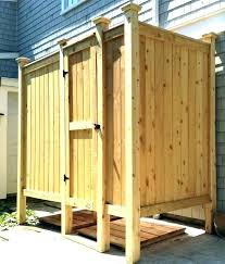 wooden outdoor shower enclosures home depot stall kits showers designs kit deluxe free base unit outdoor shower stall