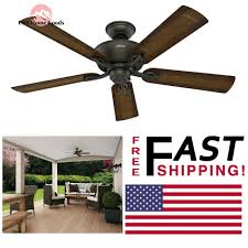 hunter caicos bronze wet rated 52 ceiling fan stainless steel indoor outdoor