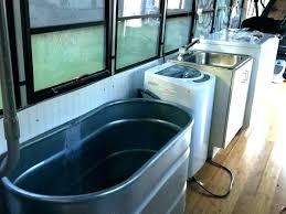 horse trough bathtub tub compact water hot wall into