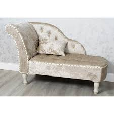crushed velvet chaise lounge beige  allens