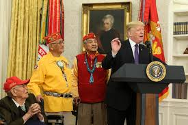 essay american ns support of the united states wuwm president donald trump r speaks during an event honoring members of the native american code talkers in the oval office of the white house on 27