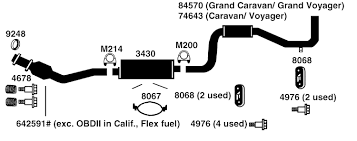 plymouth voyager exhaust diagram from best value auto parts 1995 plymouth voyager exhaust diagram