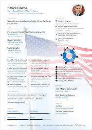 Obama Resume Barack Obama's Former US President Online Resume Enhancv 1