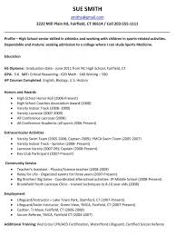 resume examples high school student example resume for senior high school student