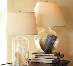 Bacchus Glass Table & Bedside Lamp - Modern - Table Lamps - by Pottery .