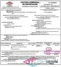 Formato De Factura De Exportacion