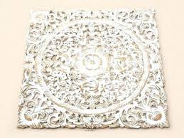 carved wall decor wood white pier 1