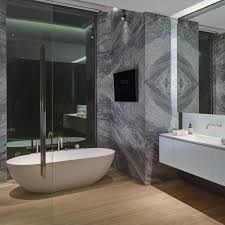 Master bathroom in this modern mansion in the Bird Streets at 1877