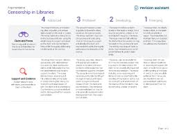 censorship in the libraries guides turnitin com rubric
