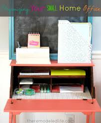 Organizing a small office Desks The Remodeled Life The Remodeled Life Organizing Your Small Home Office