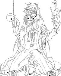 black butler coloring pages images in for teenagers black butler coloring pages