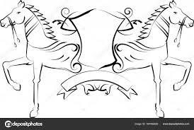 Tetování Koně S štít Stock Vektor Ajayshrivastava 164492620